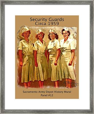 Female Security Guards Framed Print by Dean Gleisberg