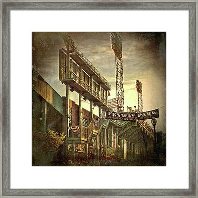 Fenway Park - Lansdowne Street - Boston Framed Print by Joann Vitali