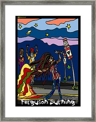 Ferguson Burning II Framed Print by MyChicC