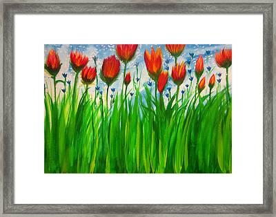 Field Flowers  Framed Print by Stephanie Zelaya