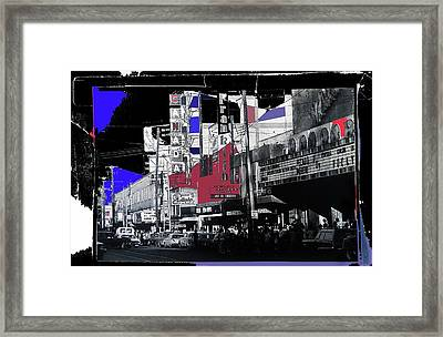 Film Homage Rocky 1976 Us Mexico Border Town Collage Juarez Chihuahua Mexico 1977-2012 Framed Print by David Lee Guss