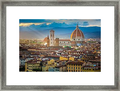 Firenze Duomo Framed Print by Inge Johnsson