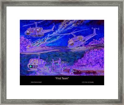 First Team Framed Print by Dennis Vebert