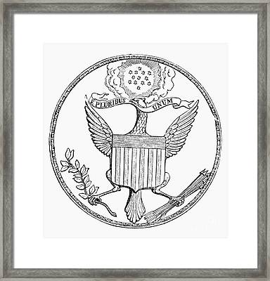 First U.s. Seal, 1782 Framed Print by Granger
