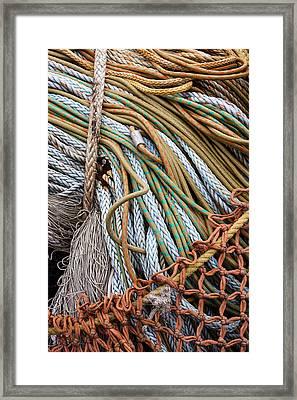 Fishing Nets Framed Print by Carol Leigh
