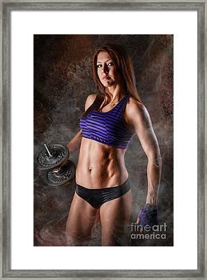 Fitness Motivation Framed Print by Jt PhotoDesign