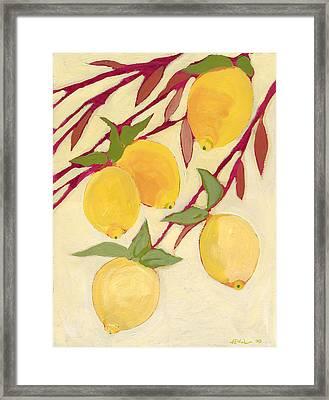 Five Lemons Framed Print by Jennifer Lommers
