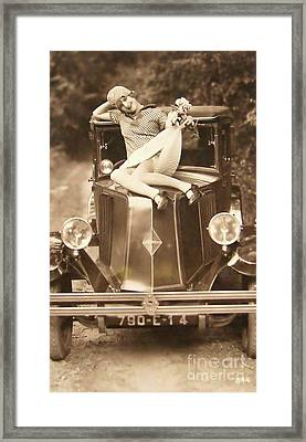 Flapper Girl Framed Print by Jon Neidert