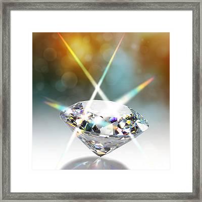 Flashing Diamond Framed Print by Atiketta Sangasaeng