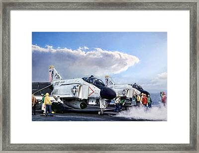 Flight Deck Framed Print by Peter Chilelli