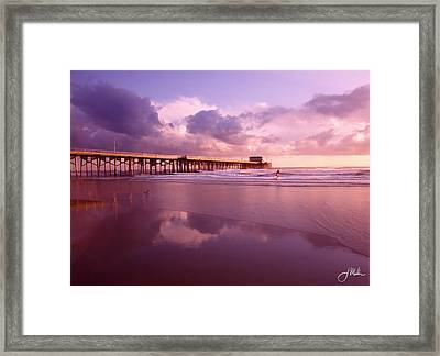 Florida Gold Coast Pier Framed Print by Joshua Miller
