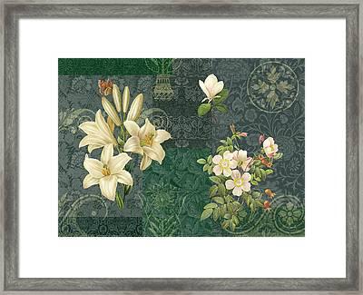Flower Patchwork 2 Framed Print by JQ Licensing