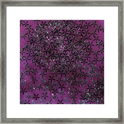 Flower Shower Framed Print by Bonnie Bruno