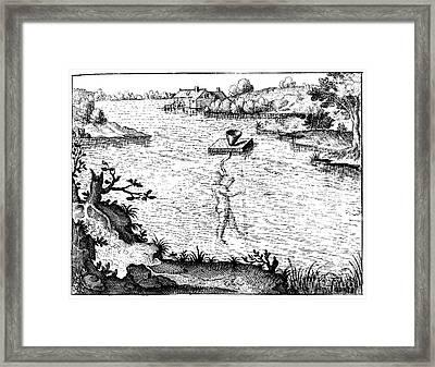 Fludds Underwater Breathing Apparatus Framed Print by Folger Shakespeare Library