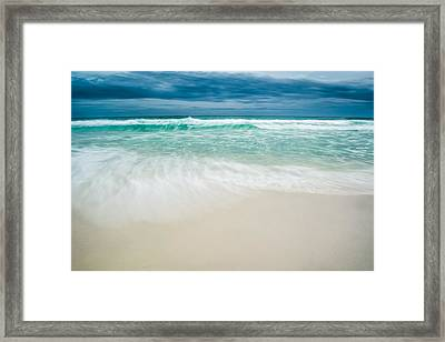 Foaming Waves Framed Print by Shelby  Young