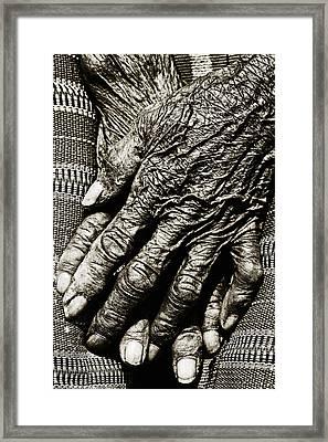 Old Hands Framed Print by Skip Nall