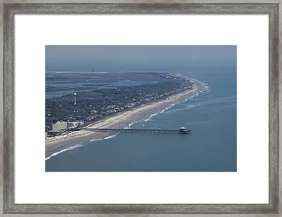 Folly Beach South Carolina Aerial Framed Print by Dustin K Ryan