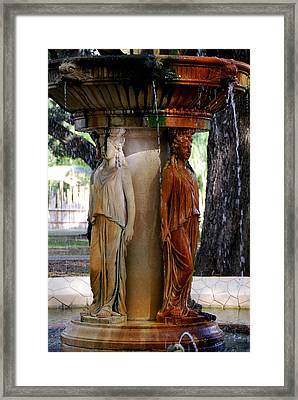 Fountain Framed Print by Thea Wolff
