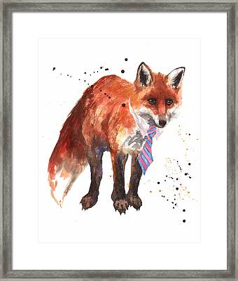 Fox Painting Framed Print by Alison Fennell