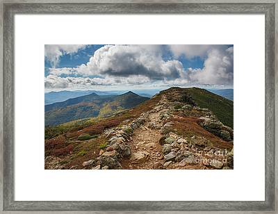 Franconia Ridge Trail - White Mountains New Hampshire Framed Print by Erin Paul Donovan