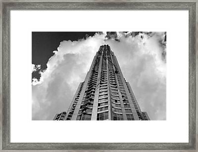 Frank Gehry High Rise Lower Manhattan Framed Print by Robert Ullmann