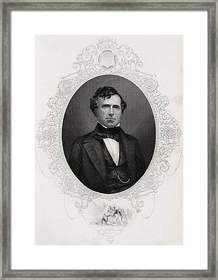 Franklin Pierce 1804-1869 14th Framed Print by Vintage Design Pics