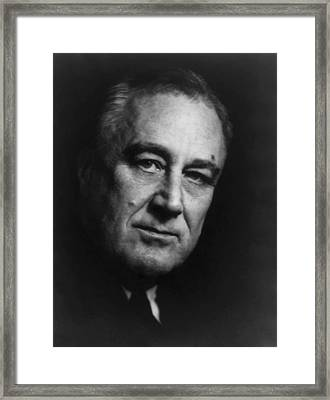 Franklin Roosevelt Framed Print by War Is Hell Store