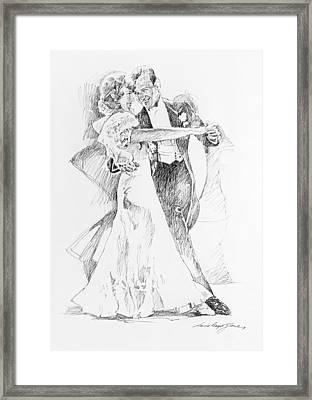 Fred And Ginger Top Hat Framed Print by David Lloyd Glover