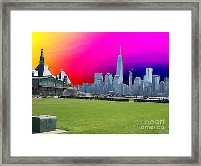 Freedom Tower Formerly World Trade  Centre Wtc New York Photo Taken On July 4 2015 Usa America's Bir Framed Print by Navin Joshi
