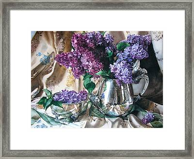 French Lilacs Framed Print by Kimberly Meuse