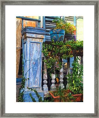 French Quarter Porch Framed Print by John Boles