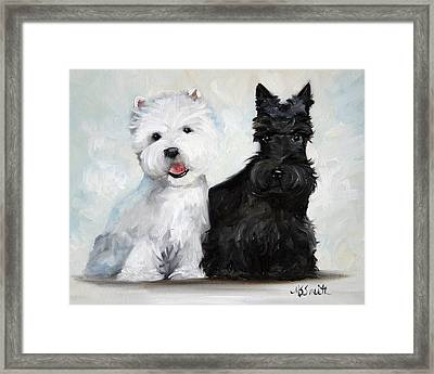 Friends Framed Print by Mary Sparrow