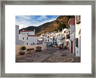 Frigiliana Street Scene, Costa Del Sol Framed Print by Panoramic Images