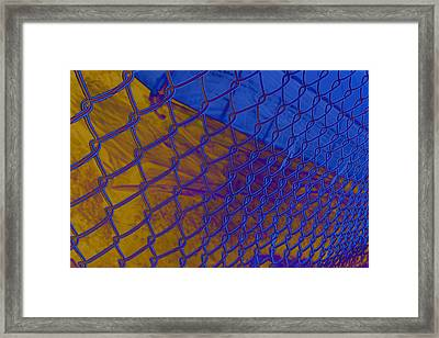 Frosted Links Framed Print by Barbara  White