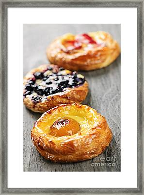 Fruit Danishes Framed Print by Elena Elisseeva