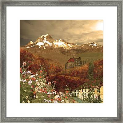 Full Mythical Landscape Framed Print by Jeff Burgess