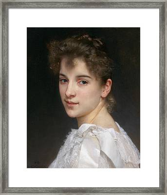 Gabrielle Cot Framed Print by William-Adolphe Bouguereau