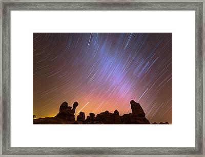 Garden Of Eden Nights Framed Print by Darren White