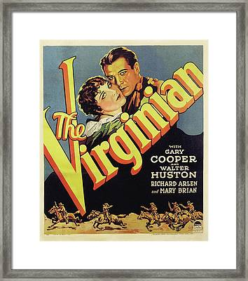 Gary Cooper In The Virginian 1929 Framed Print by Mountain Dreams