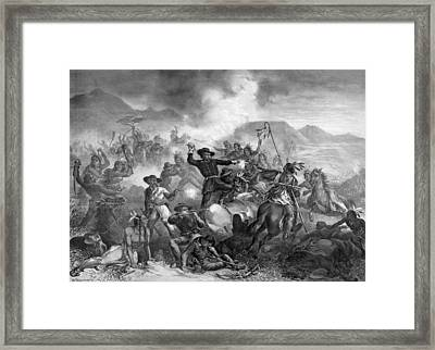 General Custer's Death Struggle Framed Print by War Is Hell Store