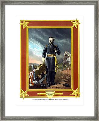 General Us Grant Framed Print by War Is Hell Store