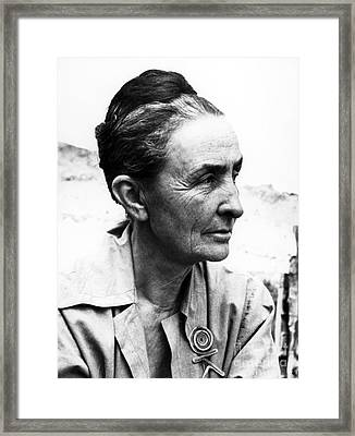 Georgia Okeeffe (1887-1986) Framed Print by Granger