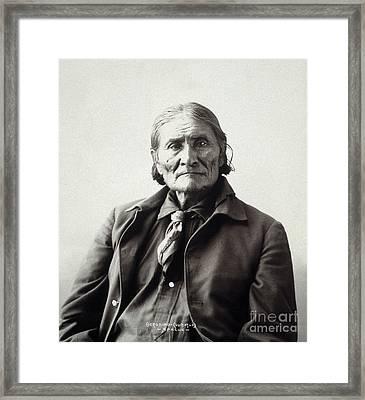 Geronimo (1829-1909) Framed Print by Granger