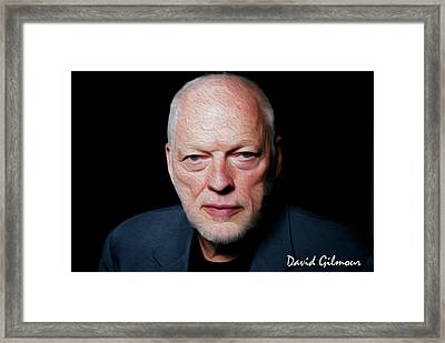 Gilmour By Nixo Framed Print by Nicholas Nixo