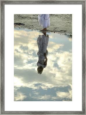 Girl And The Sky Framed Print by Joana Kruse