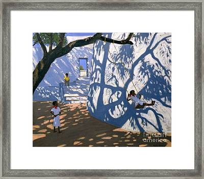 Girl On A Swing India Framed Print by Andrew Macara