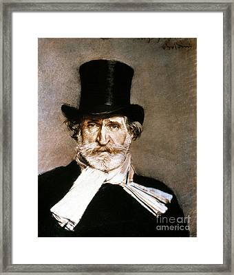 Giuseppe Verdi (1813-1901) Framed Print by Granger