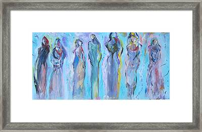 Goddess Girls' Night Out Framed Print by Trenda Berryhill