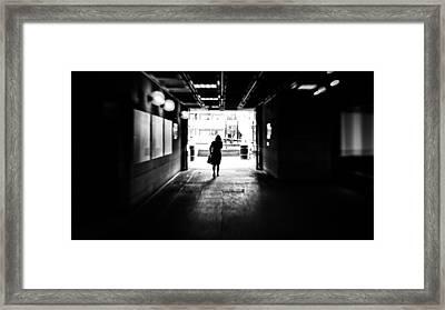 Going Back Home - Dublin, Ireland - Black And White Street Photography Framed Print by Giuseppe Milo