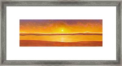 Gold Sunset Framed Print by Jaison Cianelli